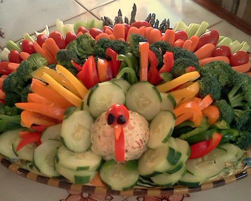 Thanksgiving Turkey Veggie Tray  Thanksgiving Turkey Ve able Platter Ideas e Hundred