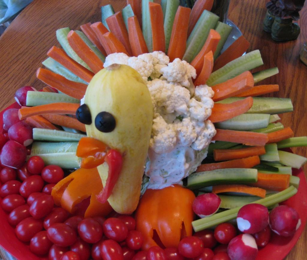 Thanksgiving Turkey Veggie Tray  Cornucopia of Creativity Turkey Veggie Tray