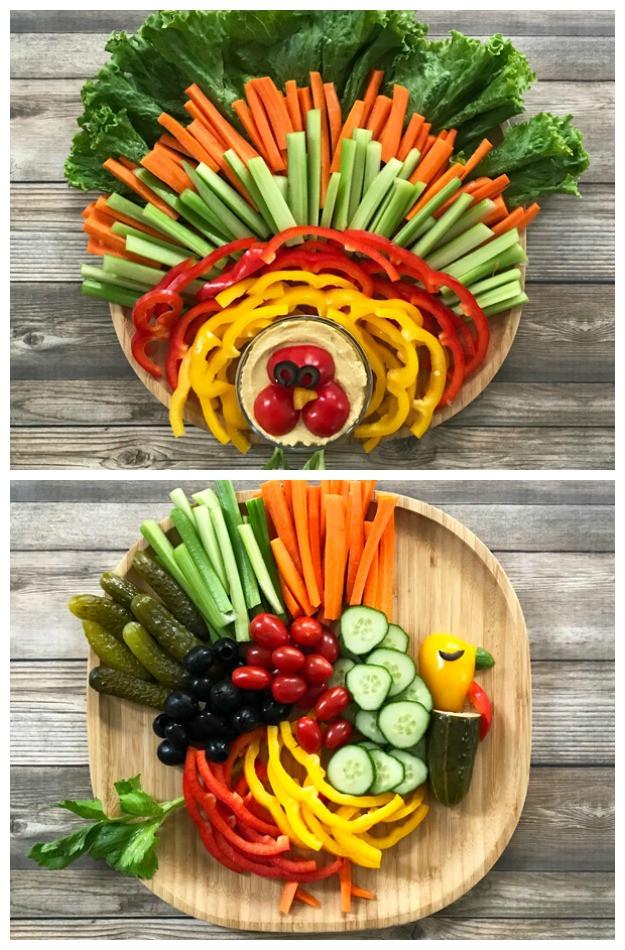 Thanksgiving Turkey Veggie Tray  How to Make a Thanksgiving Turkey Veggie Tray • Tastythin