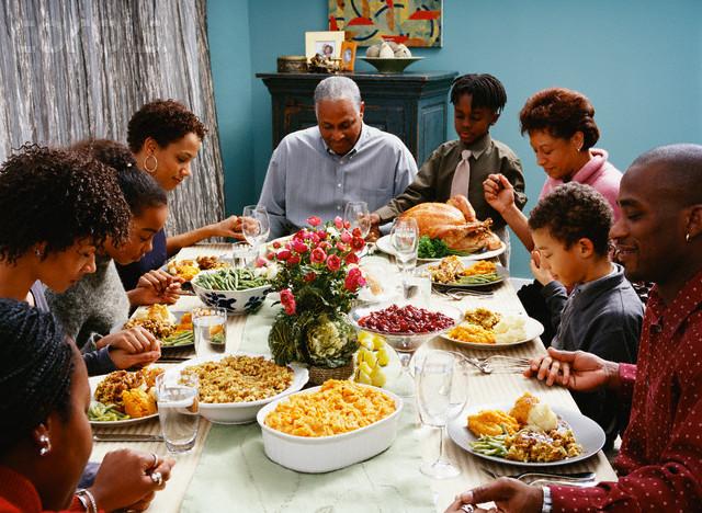 Traditional American Thanksgiving Dinner  November 2010