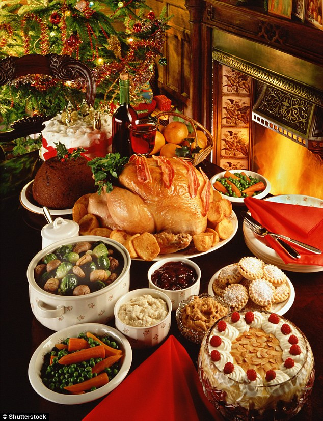 Traditional British Christmas Dinner  Bingeing at Christmas could make you gain two stone in
