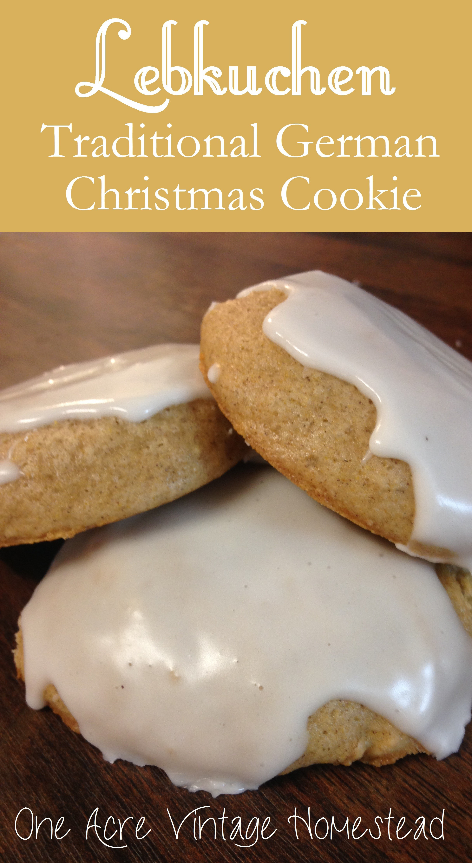 Traditional German Christmas Cookies  Lebkuchen A Traditional German Gingerbread Christmas Cookie