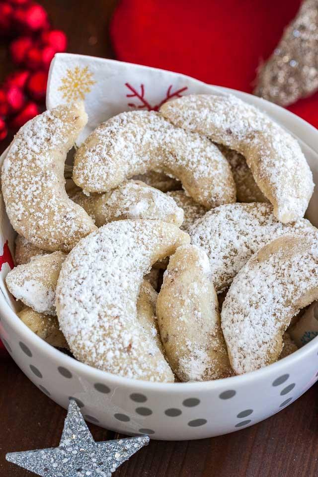 Traditional German Christmas Cookies  Vanillekipferl German Vanilla Crescent Cookies