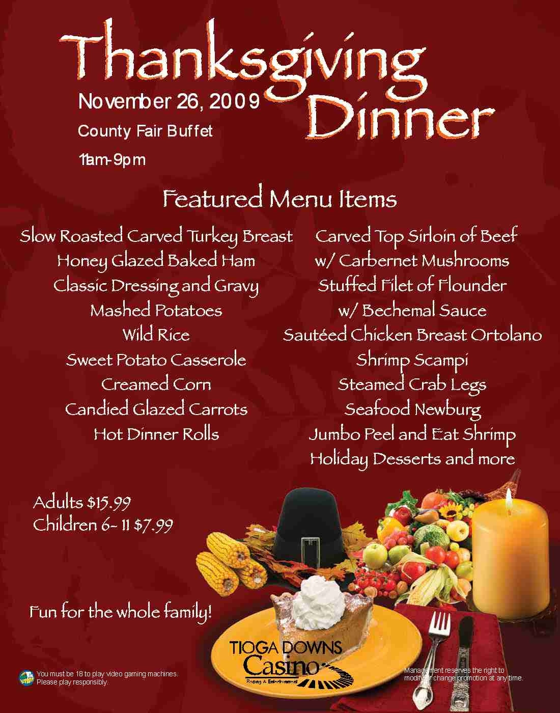 Traditional Thanksgiving Dinner Menu  Typical Thanksgiving Menu Frompo 1
