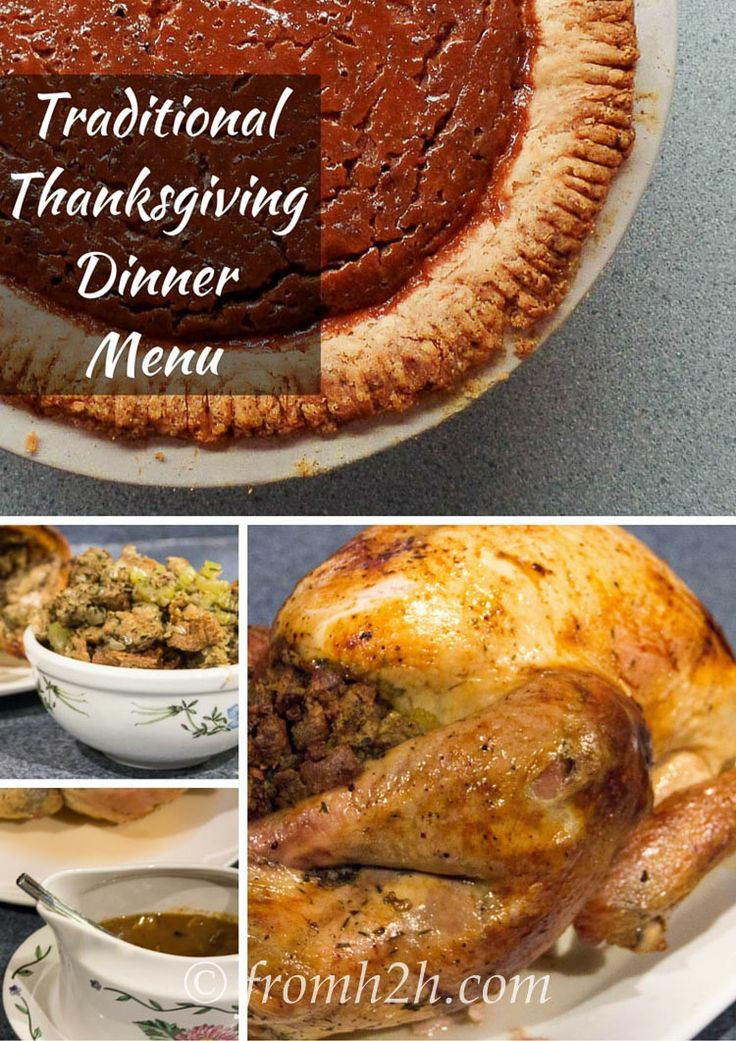 Traditional Thanksgiving Dinner Menu  1000 ideas about Thanksgiving Dinner Tables on Pinterest