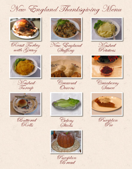 Traditional Thanksgiving Dinner Menu  What is a traditional Thanksgiving dinner service at home