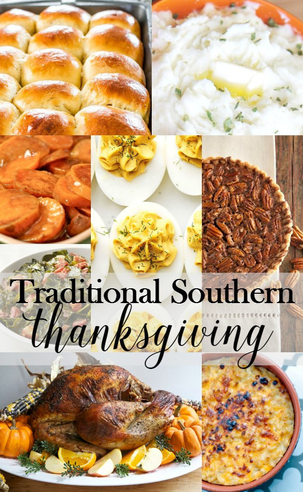 Traditional Thanksgiving Dinner Menu  Traditional Southern Thanksgiving Menu