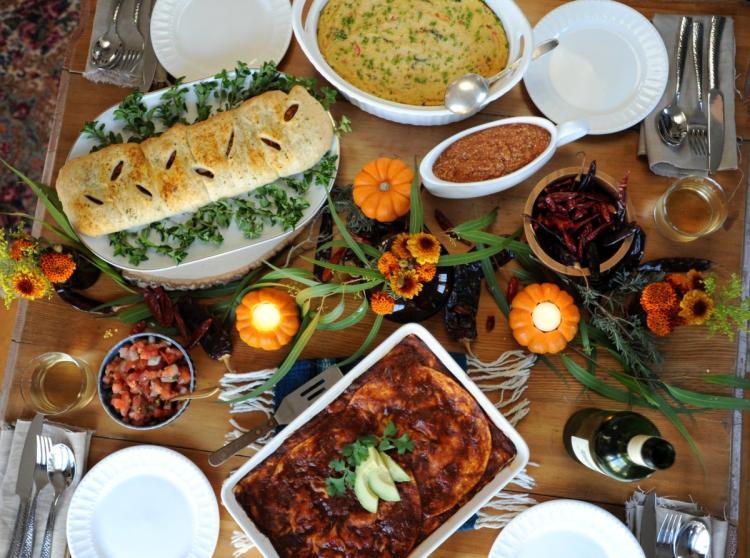 Turkey Alternatives Thanksgiving  Thug Kitchen authors offer vegan Thanksgiving