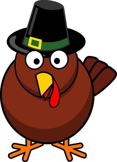 Turkey Cartoons Thanksgiving  Free vector graphic Cartoon Fall Thanksgiving Turkey