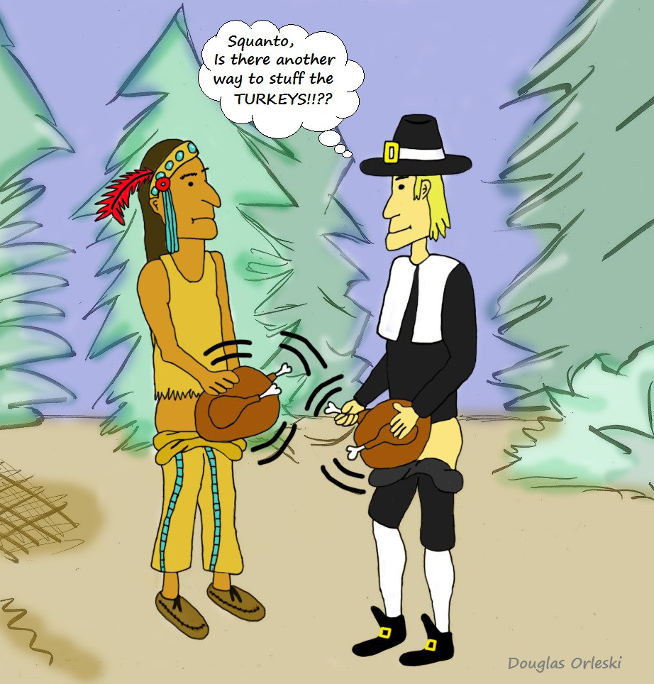Turkey Cartoons Thanksgiving  The History of Turkey Stuffing