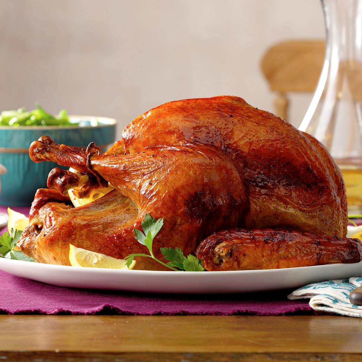 Turkey Cooking Recipes For Thanksgiving  Marinated Thanksgiving Turkey Recipe