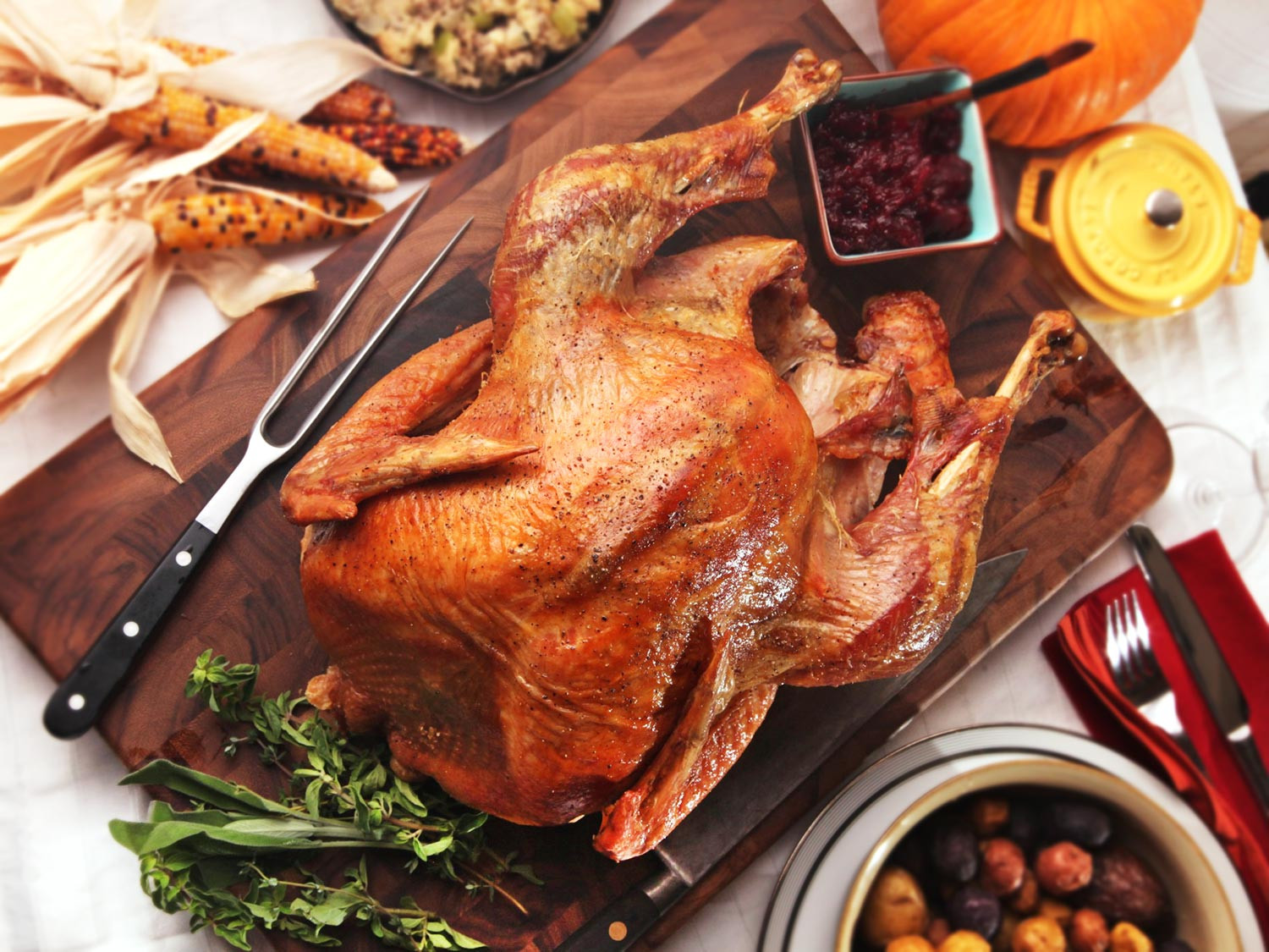 Turkey Cooking Recipes For Thanksgiving  The Best Simple Roast Turkey With Gravy Recipe