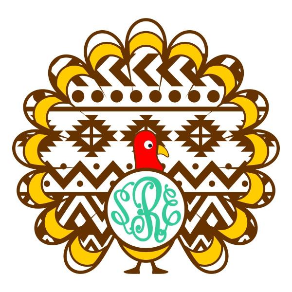Turkey Designs For Thanksgiving  Turkey Aztec Svg Cuttable Designs