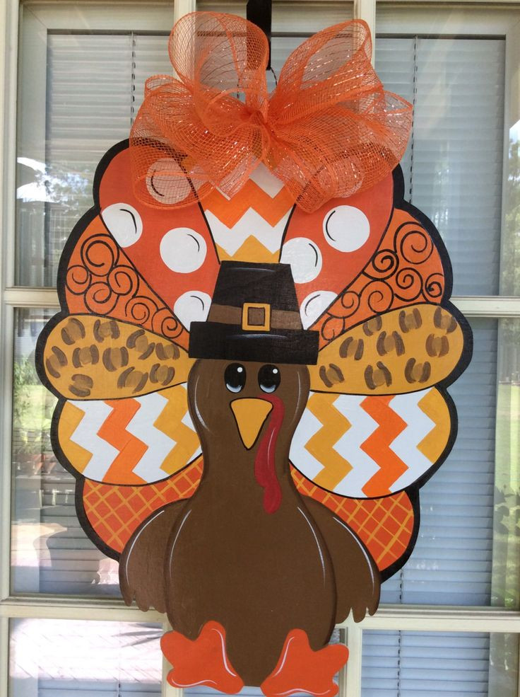 Turkey Designs For Thanksgiving  1000 ideas about Fall Door Hangers on Pinterest