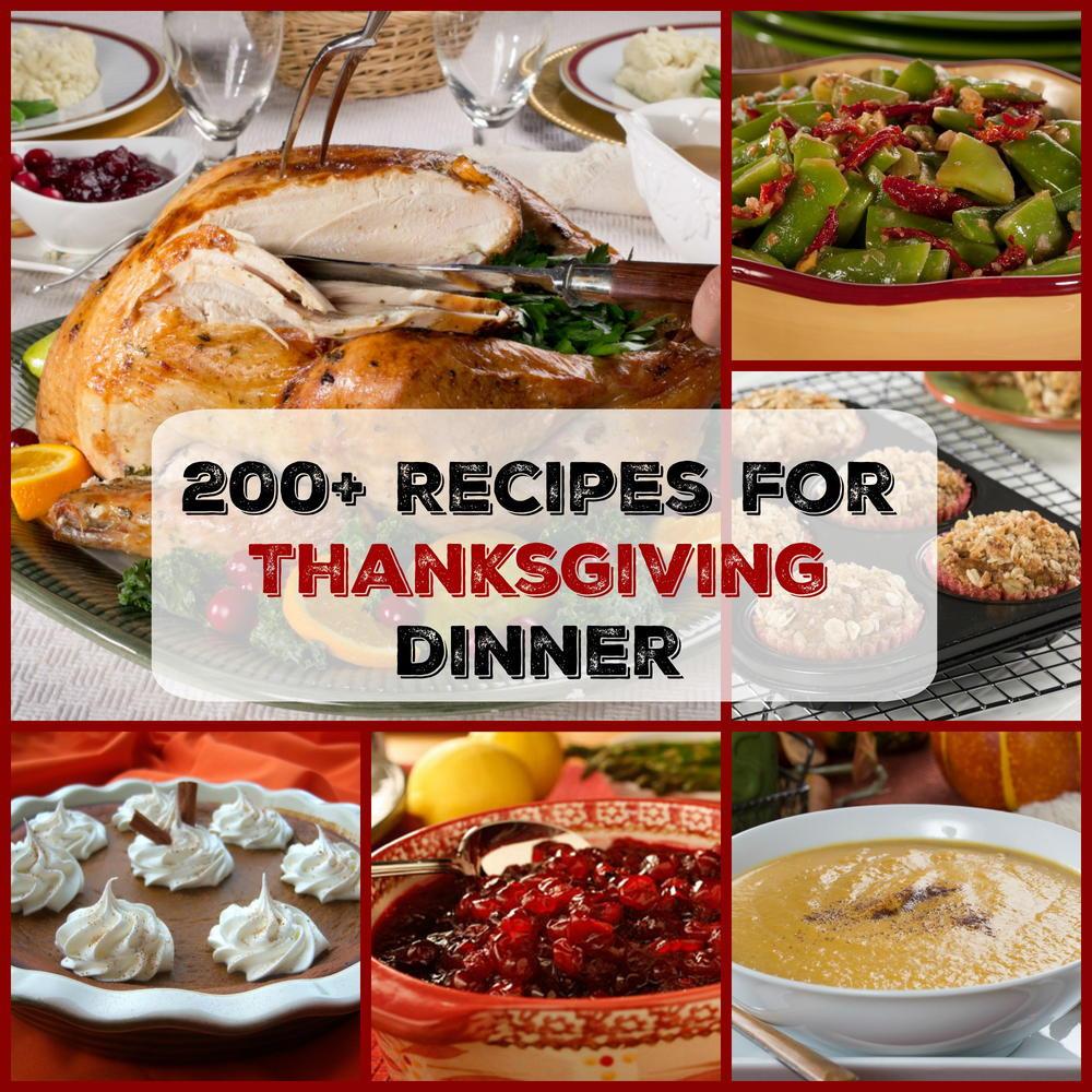 Turkey Recipes For Thanksgiving Dinner  Easy Thanksgiving Menu 200 Recipes for Thanksgiving