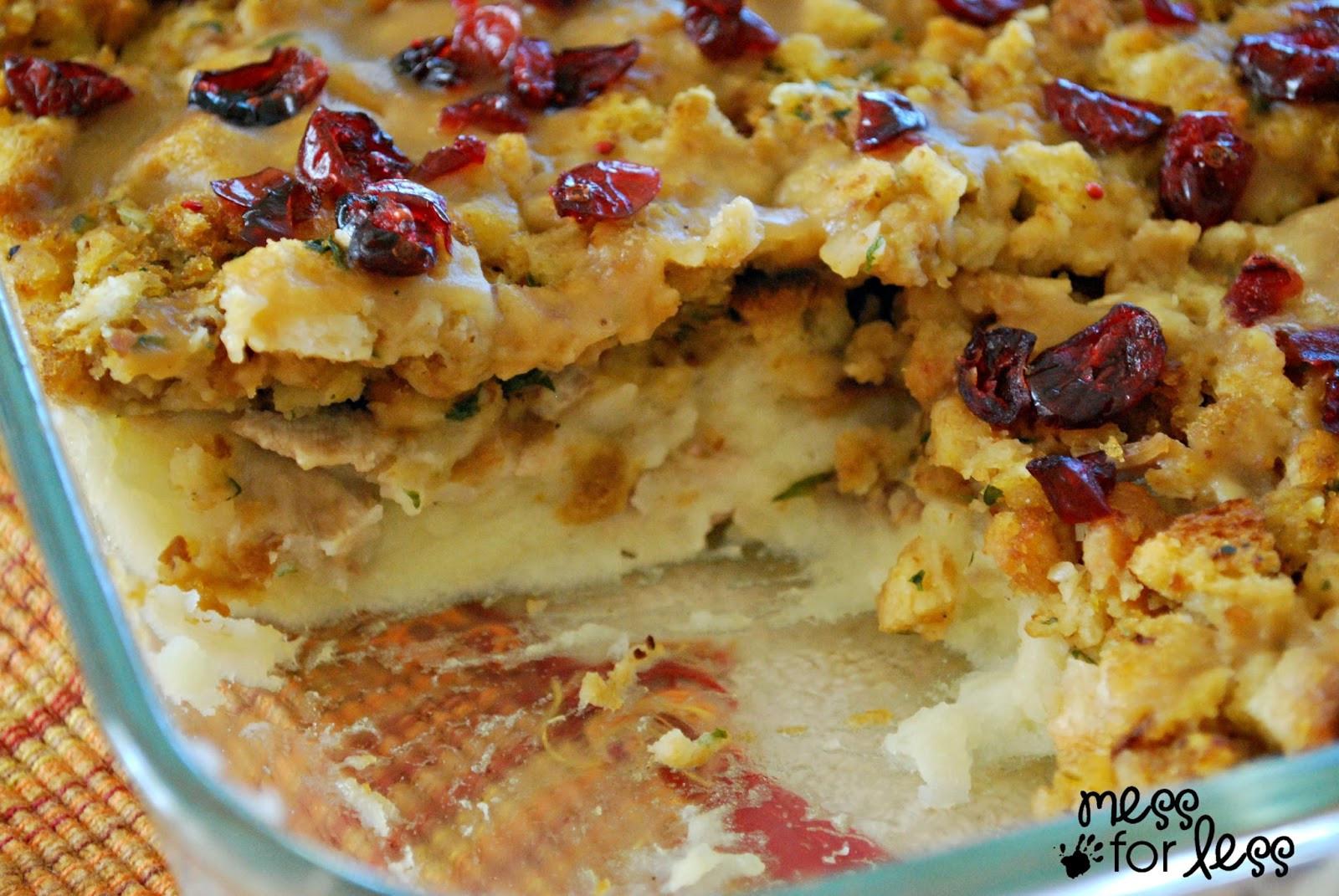 Turkey Recipes For Thanksgiving Dinner  Thanksgiving Dinner Casserole Mess for Less