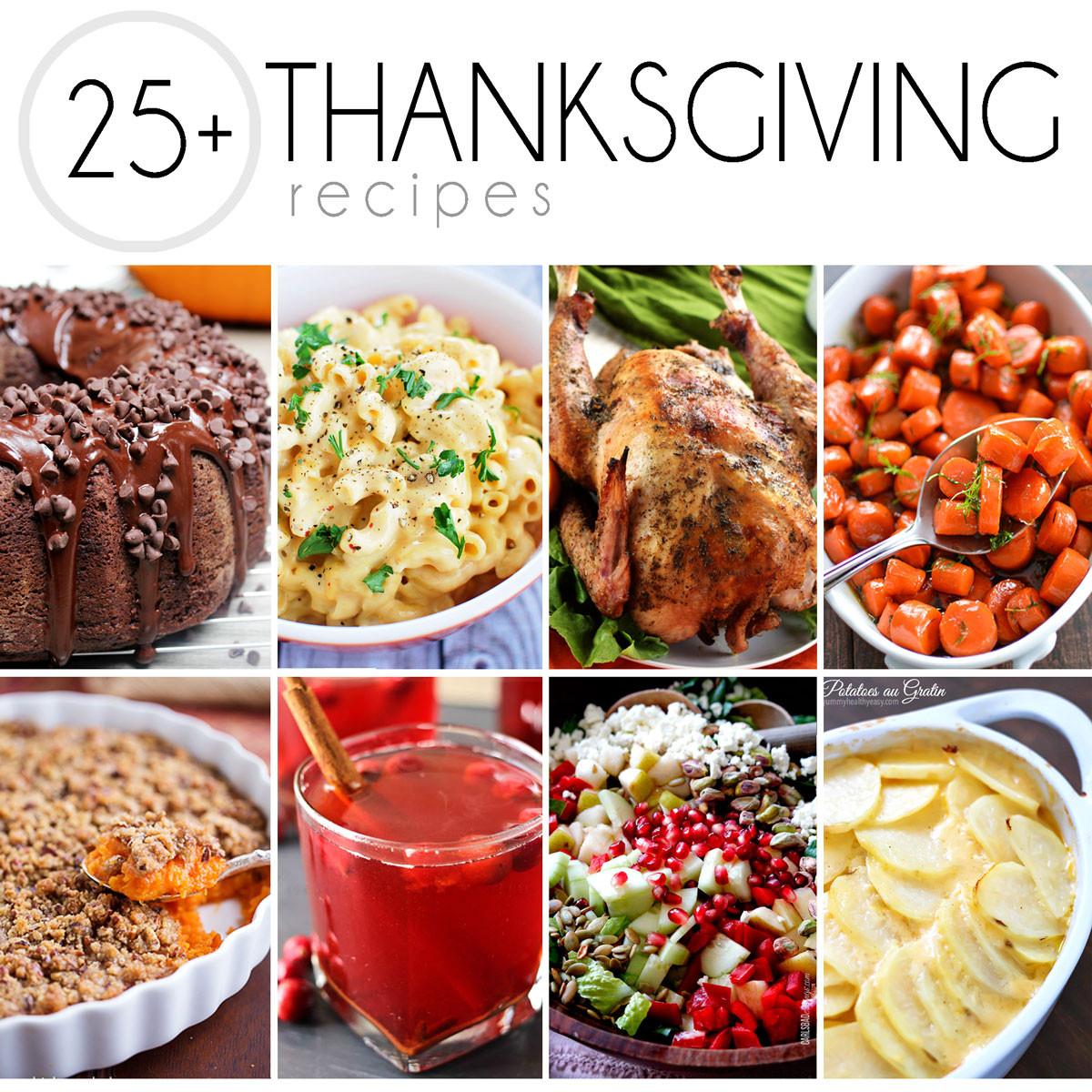 Turkey Recipes For Thanksgiving Dinner  25 Thanksgiving Recipes