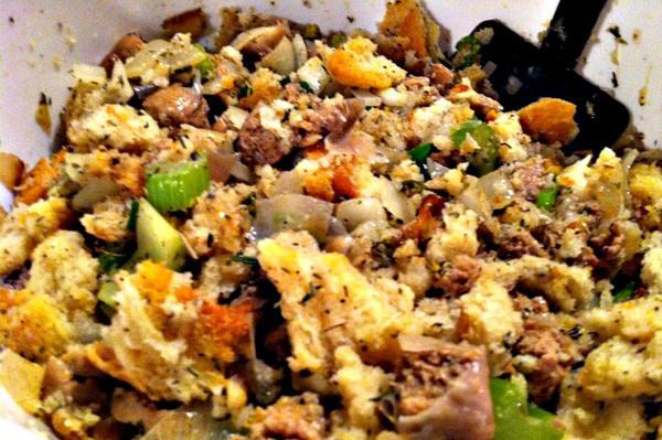 Turkey Sausage Stuffing Recipes Thanksgiving  Turkey sausage and herb stuffing recipe