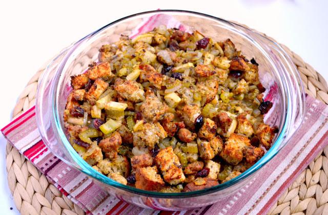 Turkey Sausage Stuffing Recipes Thanksgiving  K&K Test Kitchen Turkey Sausage Apple and Cranberry