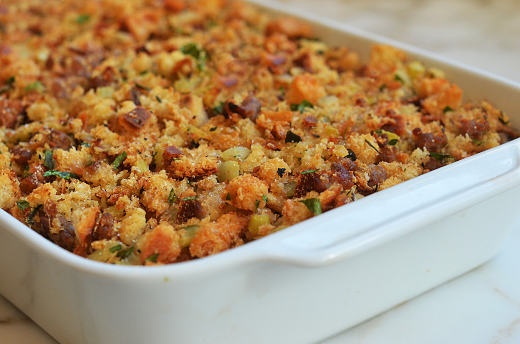 Turkey Sausage Stuffing Recipes Thanksgiving  Easy Sausage & Herb Stuffing ce Upon a Chef