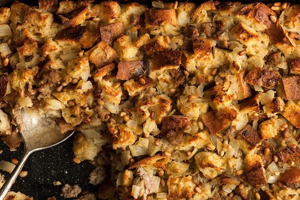 Turkey Sausage Stuffing Recipes Thanksgiving  Italian Fennel and Turkey Sausage Stuffing Recipe Chowhound
