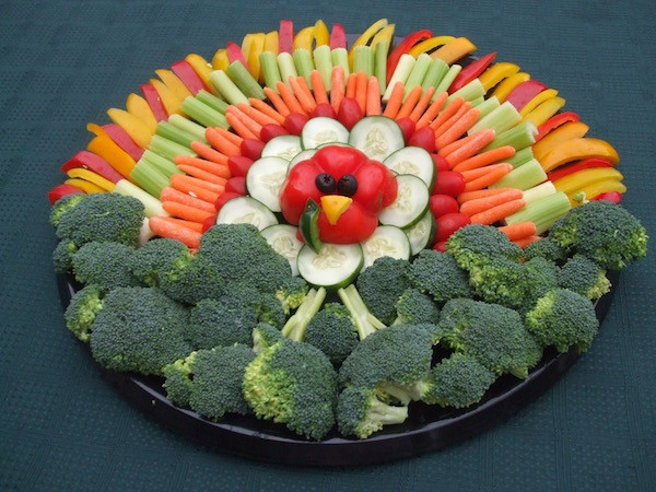 Turkey Veggie Platter For Thanksgiving  Planning a Kid Friendly Thanksgiving Weavers Orchard