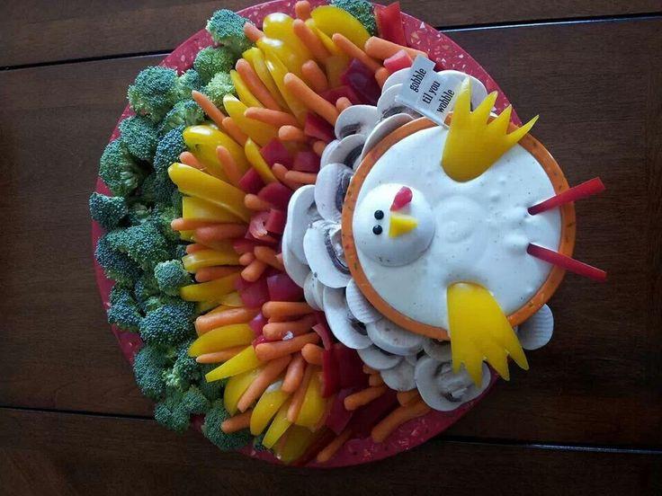 Turkey Veggie Platter For Thanksgiving  137 best Thanksgiving Appetizers images on Pinterest