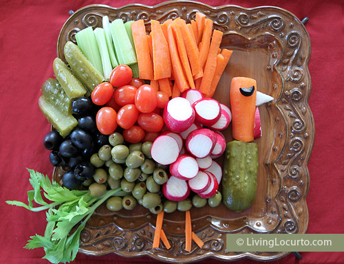 Turkey Veggie Platter For Thanksgiving  Thanksgiving Turkey Ve able Platter Ideas e Hundred