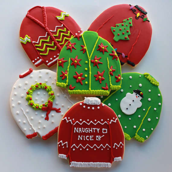 Ugly Christmas Sweater Cookies  Hideous Sweater Sweets Ugly Christmas Sweater Cookies