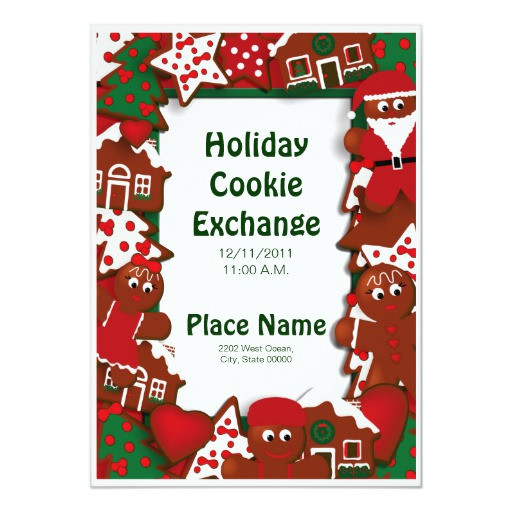 Unique Christmas Cookies For Cookie Exchange  Holiday Cookie Exchange Invitation