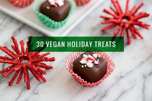 Vegan Candy Recipes Christmas  30 Recipes for Vegan Holiday Cookies Candy and Treats