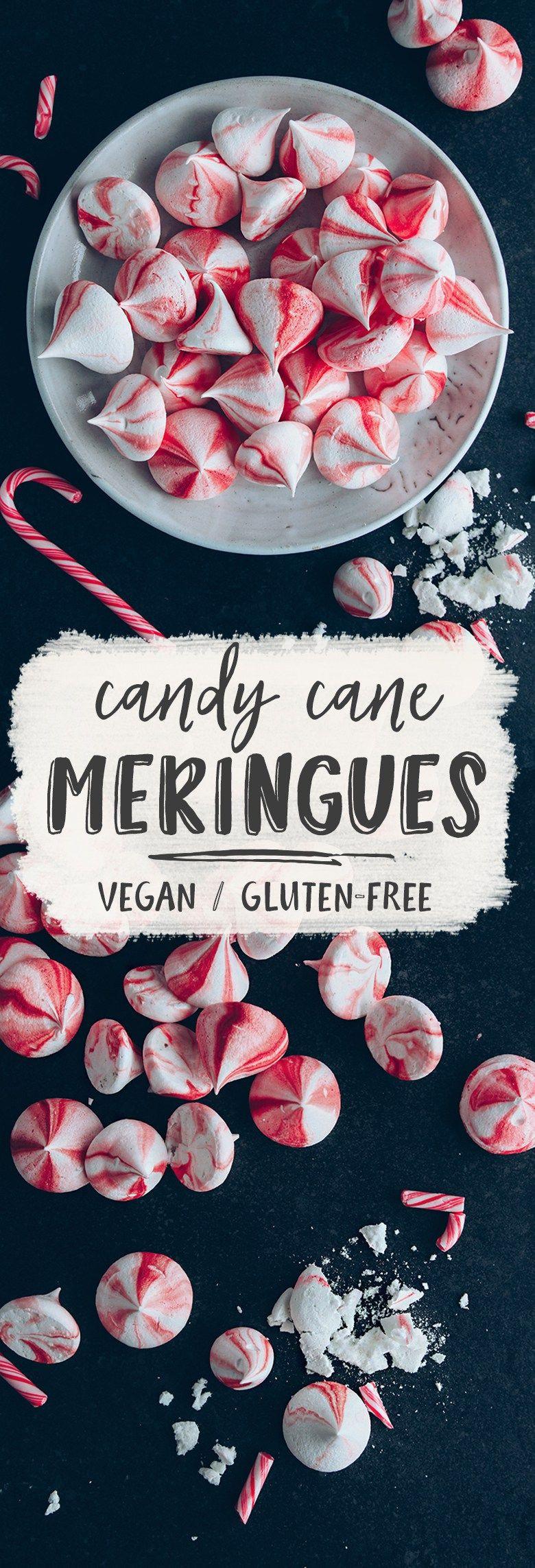 Vegan Candy Recipes Christmas  Vegan Candy Cane Meringue Kisses Recipe