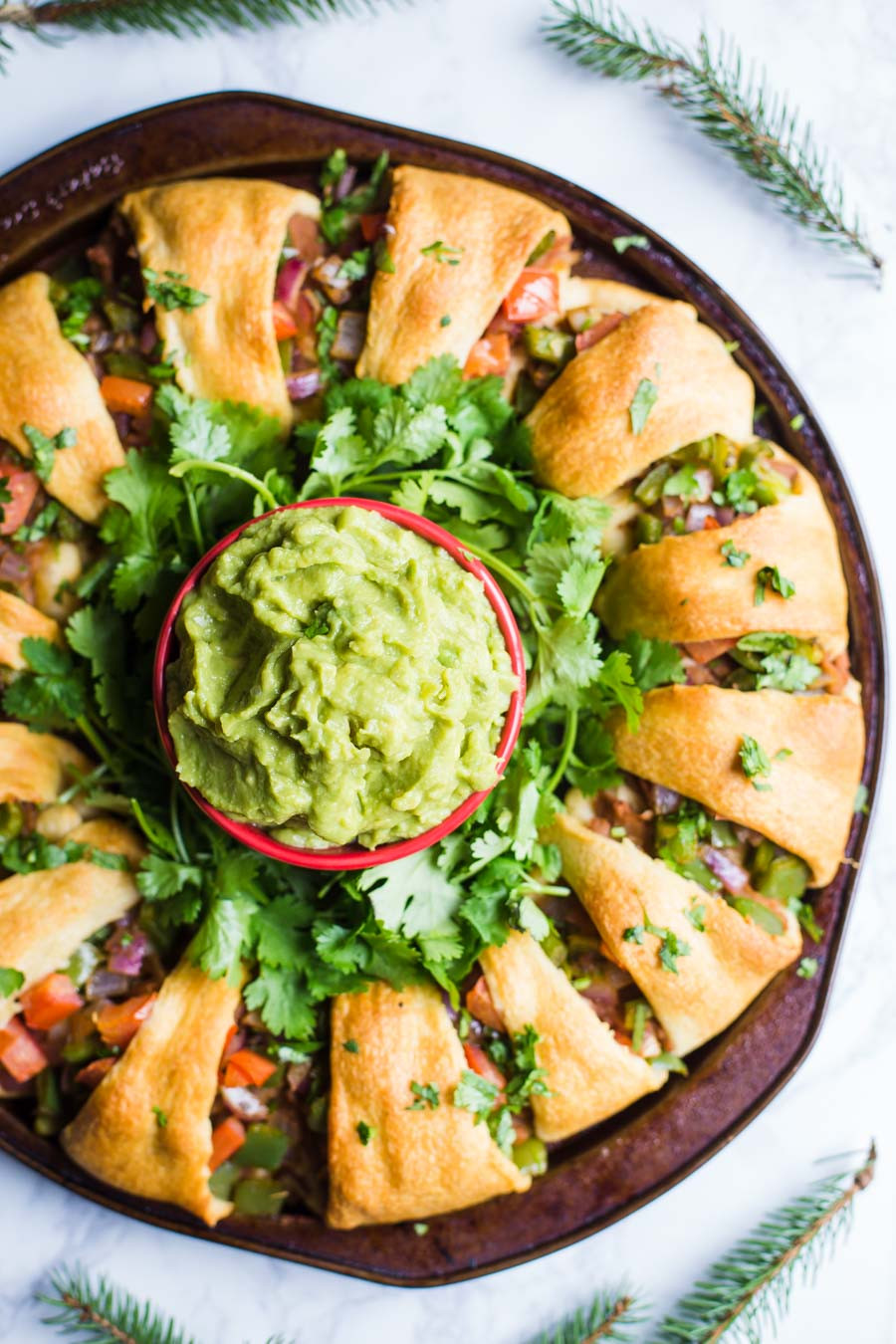 Vegan Christmas Appetizers  Holiday Wreath Taco Ring V