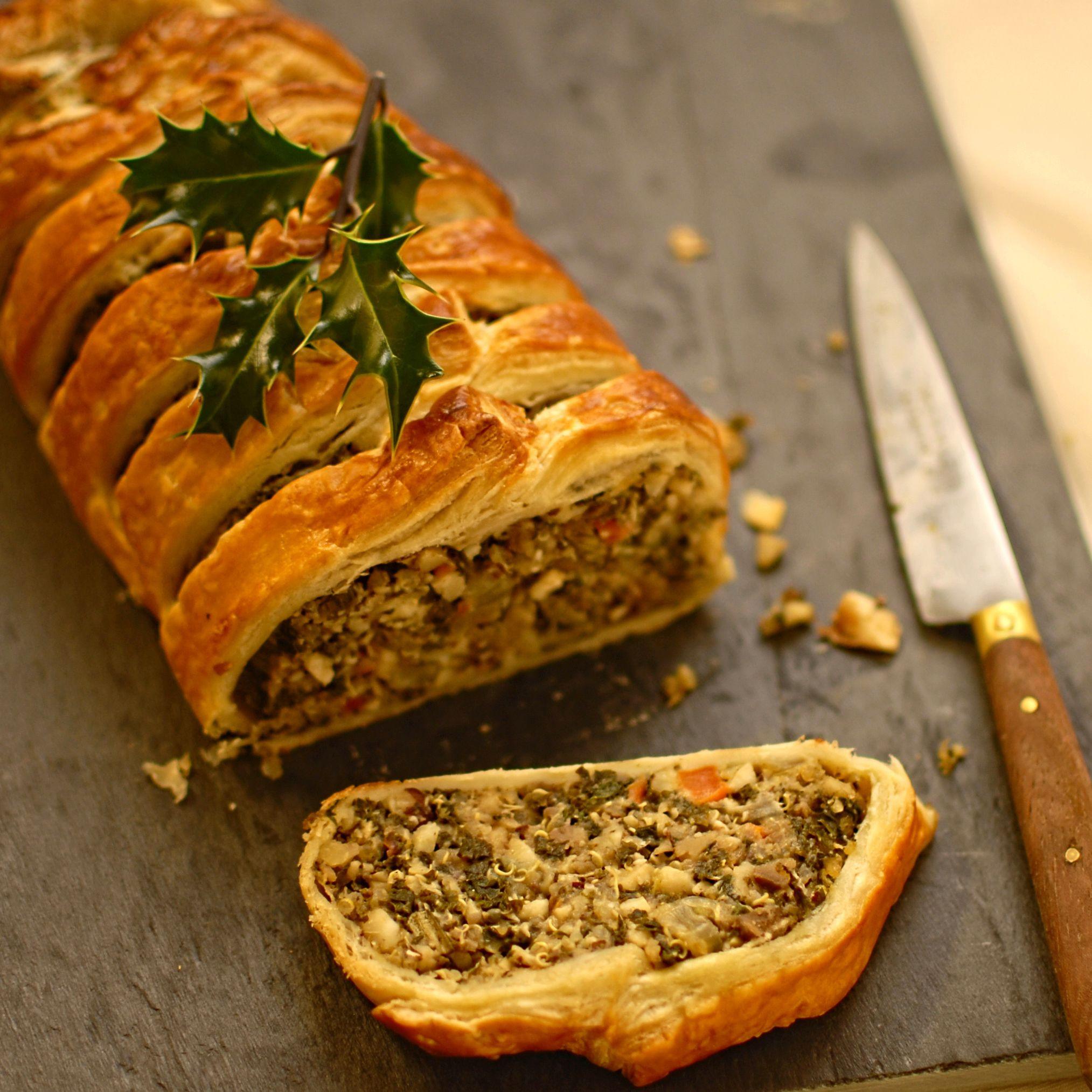 Vegan Christmas Recipes  Kale Quinoa and Nut Roast En Croute