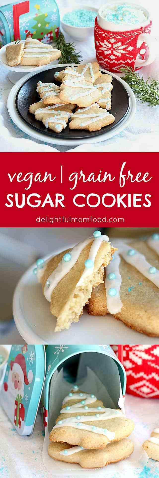 Vegan Christmas Sugar Cookies  Vegan Sugar Cookies Grain Free Gluten Free
