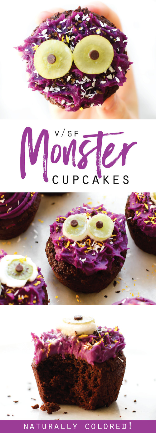 Vegan Halloween Cupcakes  Vegan Halloween Cupcake Monsters