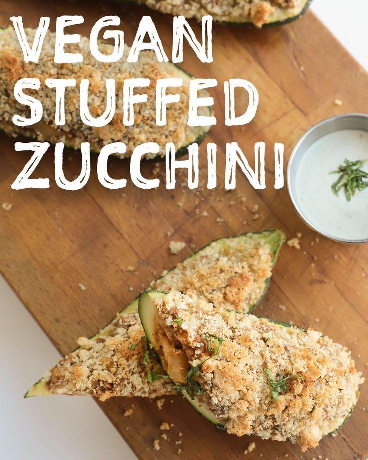 Vegan Thanksgiving 2019  Vegan Apple Sausage Stuffed Zucchini Vegan Thanksgiving