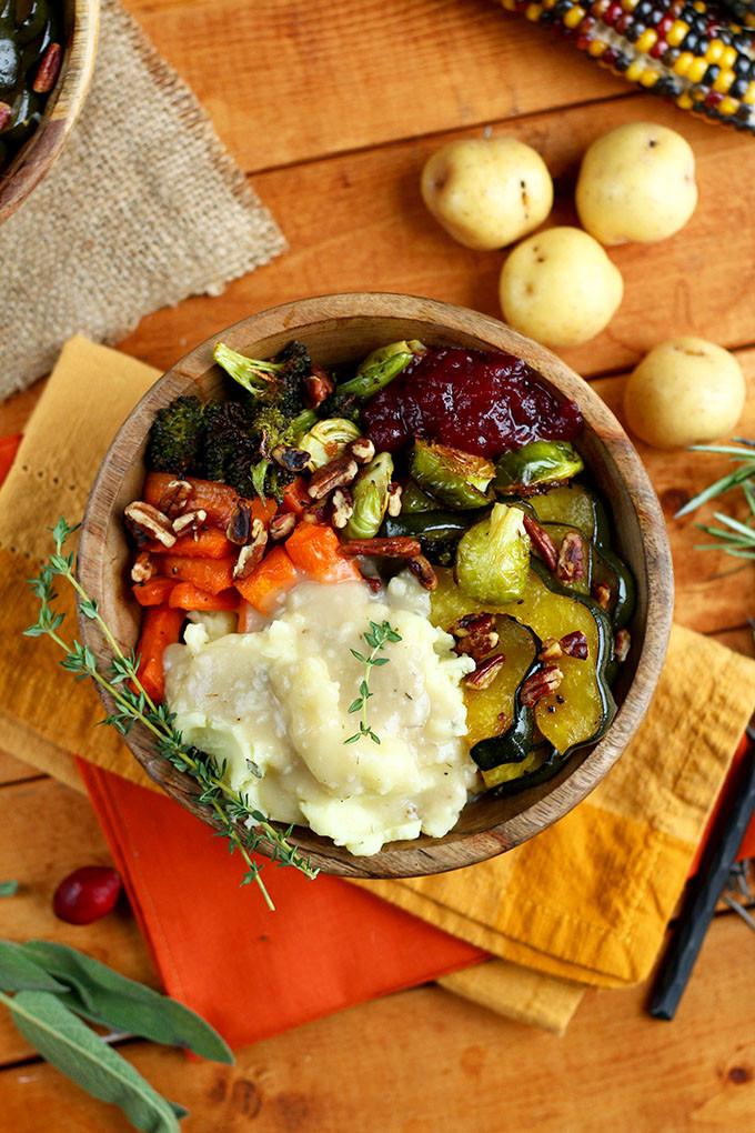 Vegan Thanksgiving Dinner  Roasted Vegan Thanksgiving Bowl I LOVE VEGAN
