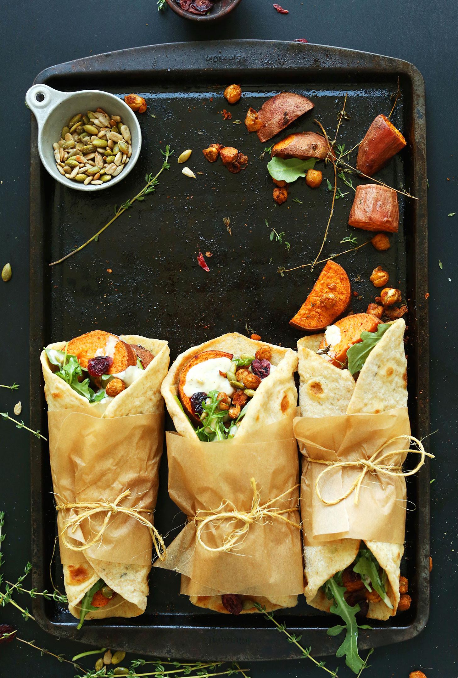 Vegan Thanksgiving Entrees  Vegan Thanksgiving Wraps