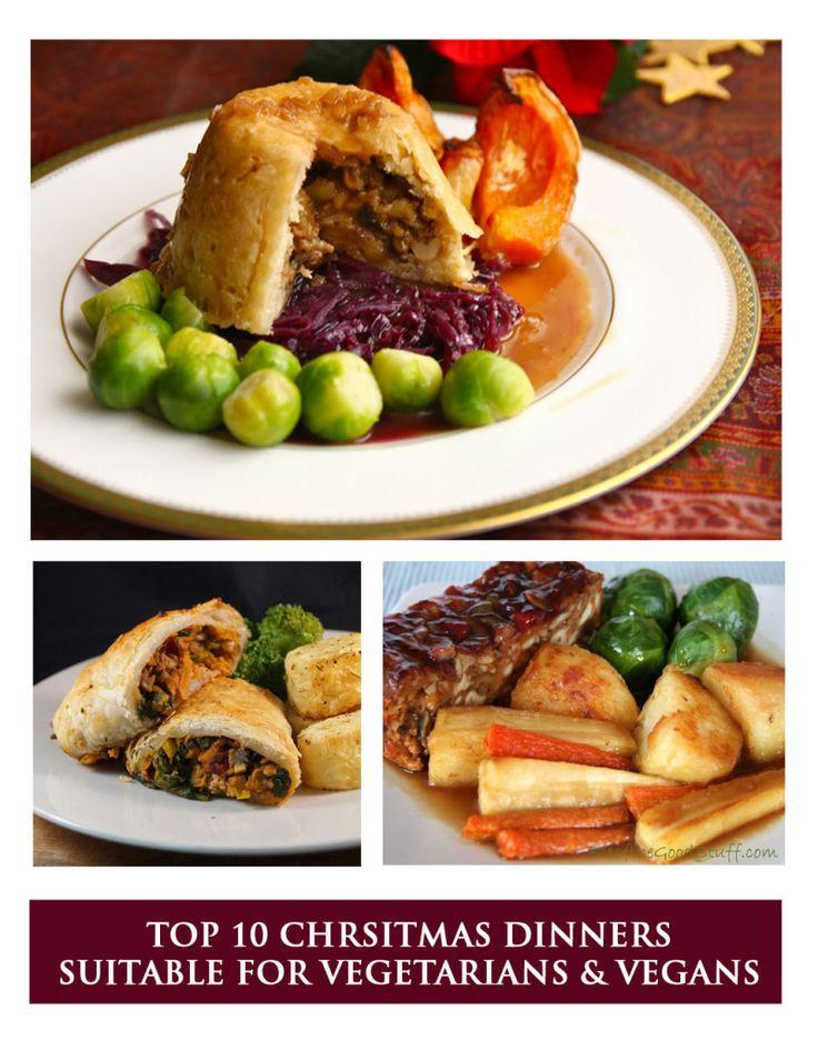 Vegetarian Christmas Dinner Recipes  129 best images about Vegan Festive Food on Pinterest
