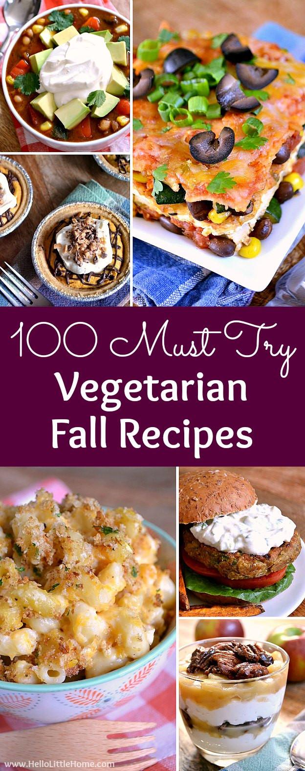 Vegetarian Fall Dinner Recipes  100 Must Try Ve arian Fall Recipes