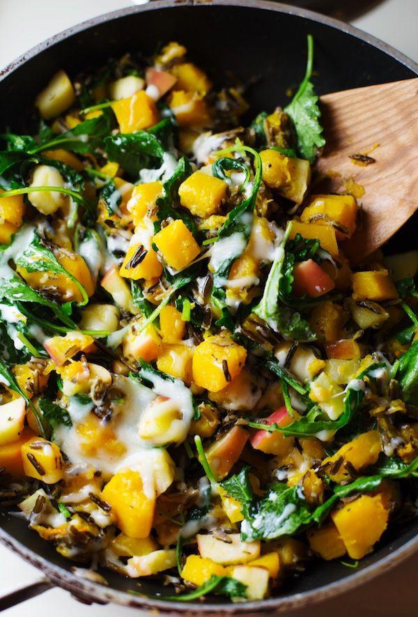 Vegetarian Fall Dinner Recipes  Harvest Wild Rice Skillet Recipe