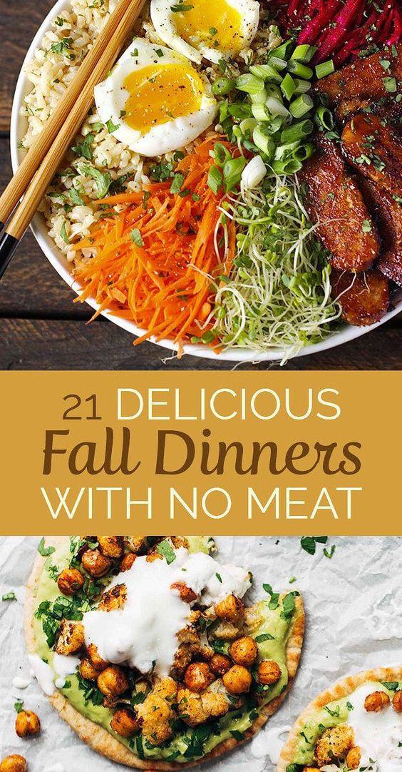 Vegetarian Fall Recipes  Dinner Fall and Ve arian snacks on Pinterest