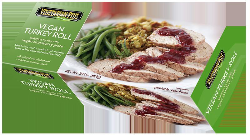Vegetarian Thanksgiving Protein  Vegan Turkey Roll