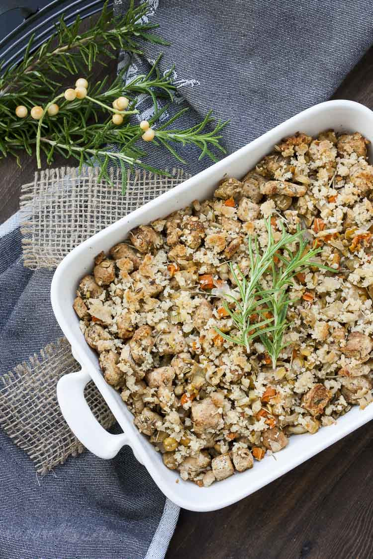 Vegetarian Thanksgiving Protein  Protein Packed Vegan Thanksgiving Stuffing Veggies Don t