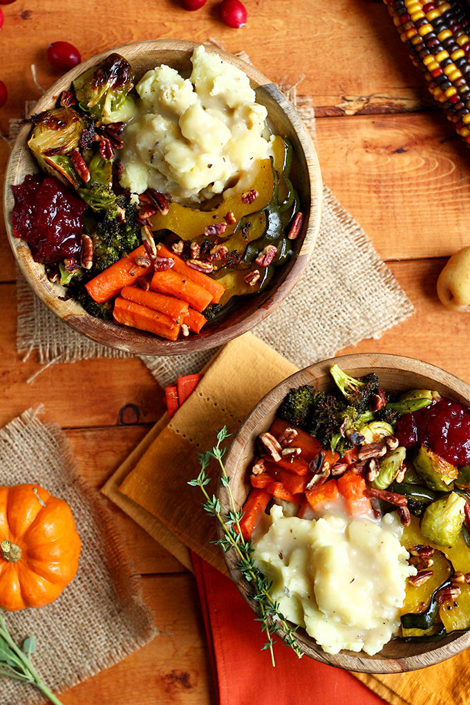 Vegetarian Turkey For Thanksgiving  Roasted Vegan Thanksgiving Bowl I LOVE VEGAN