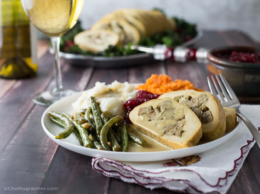 Vegetarian Turkey For Thanksgiving  Vegan Turkey Roll Cheftographer