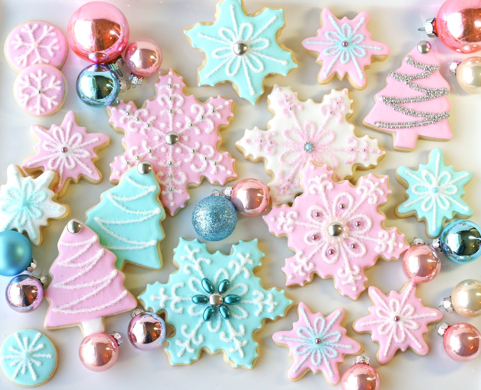 Vintage Christmas Cookies  Vintage Pastel Christmas – Glorious Treats