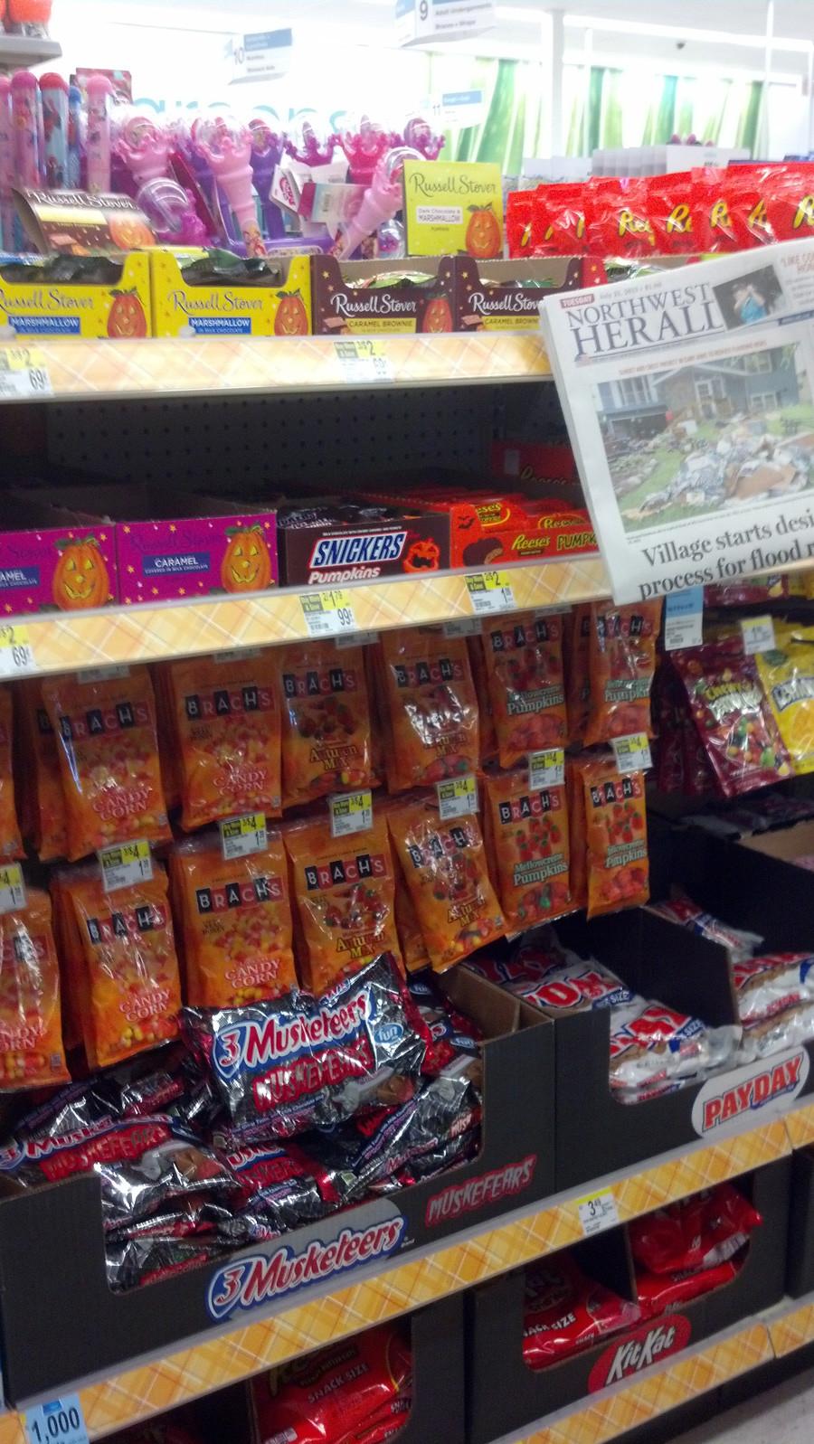 Walgreen Christmas Candy  October in July Walgreens already stocking Halloween