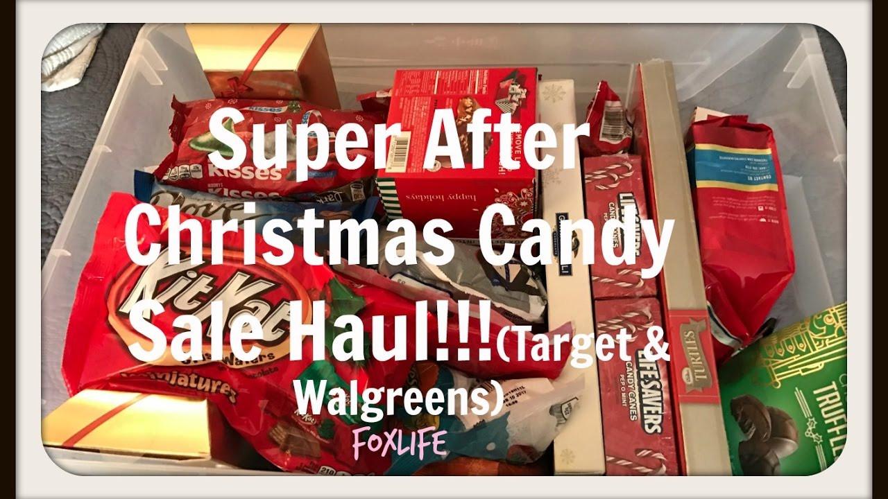 Walgreens Christmas Candy  Super After Christmas Candy Sale Haul Tar & Walgreens